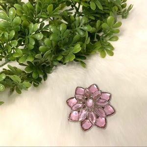 Vintage 90s Pink Flower Brooch